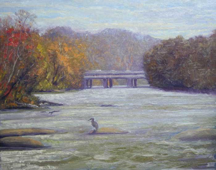 Twin Bridges, Ed Cahill, Plein Air Painting