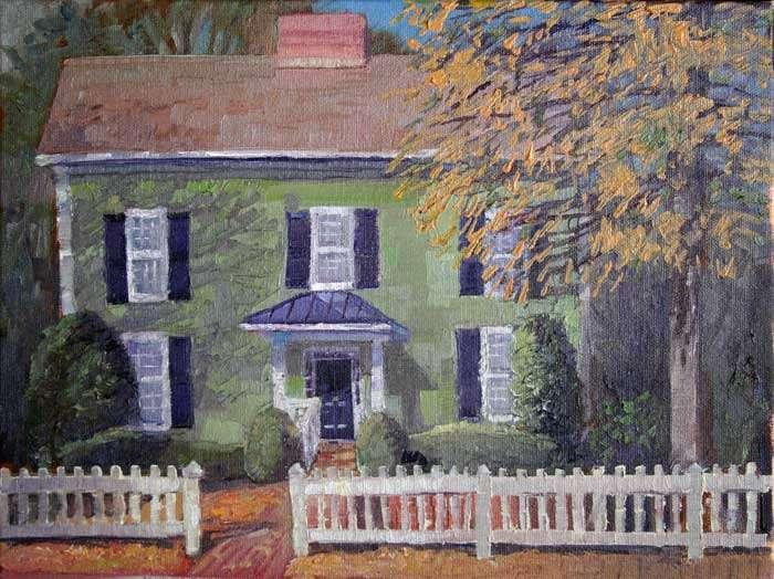 25 Sloan Street, Ed Cahill, Plein Air Painting