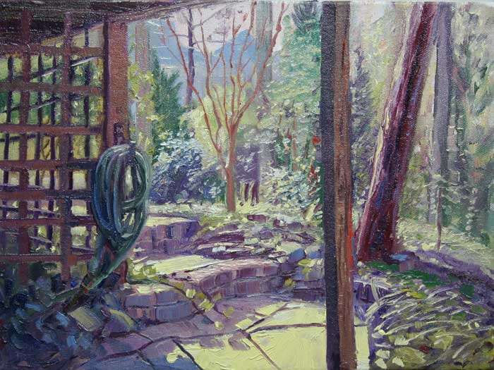 Sunday Afternoon, Ed Cahill, Plein Air Painting