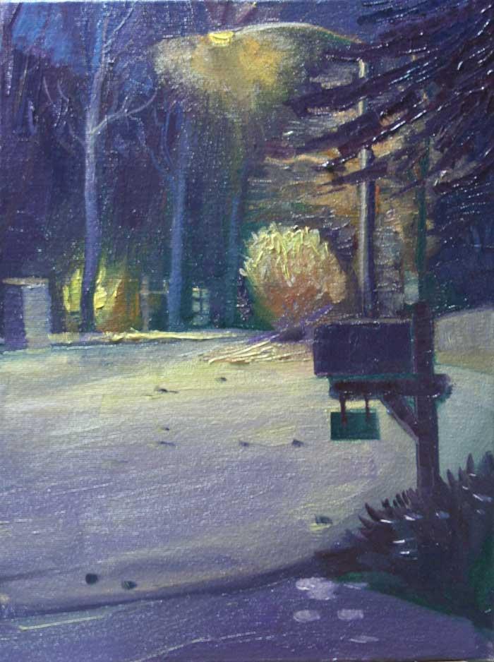 Garbage Night, Ed Cahill, Plein Air Painting