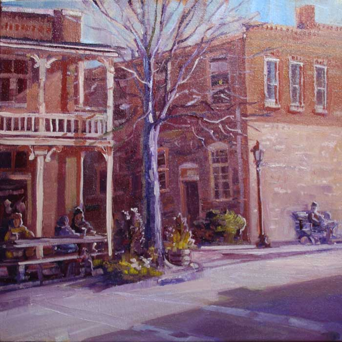 Old town Roswell, Ed Cahill, Plein Air Painting