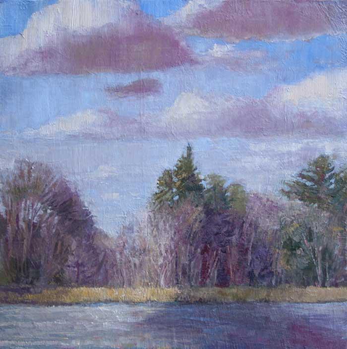 Across the lake, Ed Cahill, Plein Air Painting