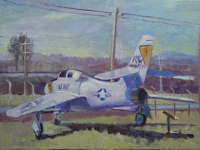 Air Park, Ed Cahill, Plein Air Painting
