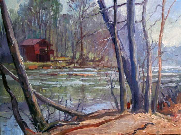 Chattahoochee at Island Ford, Ed Cahill, Plein Air Painting