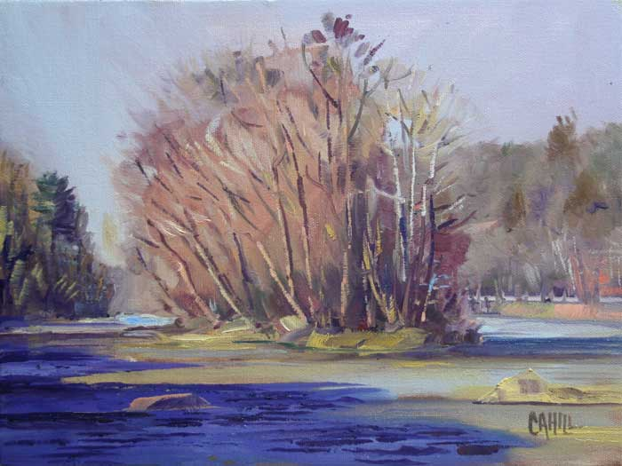 Island Ford, Ed Cahill, Plein Air Painting