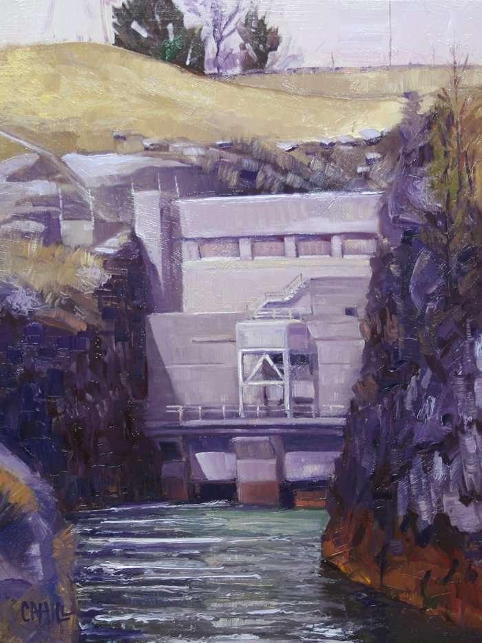 Buford Damn, Ed Cahill, Plein Air Painting