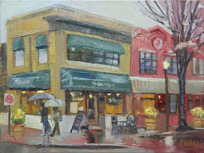 Shilling's on the Square, Ed Cahill, Plein Air Painting