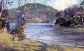 January on the River 8×16 : SOLD