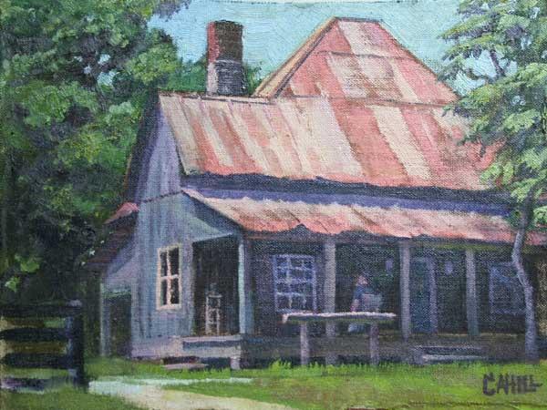 Mabry House, Ed Cahill, Plein Air Painting