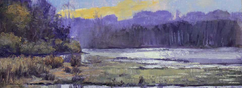 Along the Flats, Ed Cahill, Georgia Landscape Painting