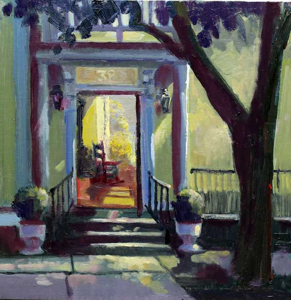 Charleston Piazza Ed Cahill Plein Air