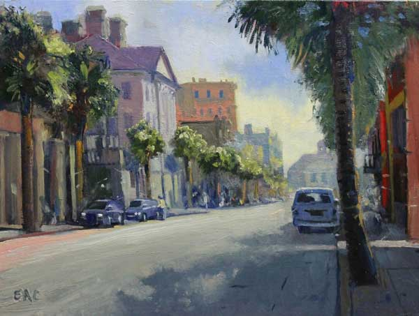 Just South of Broad Ed Cahill Plein Air