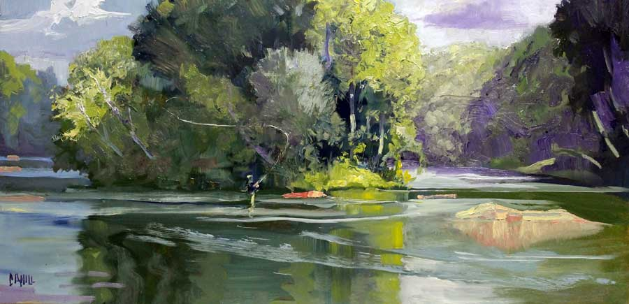 Second Cast Ed Cahill Plein Air