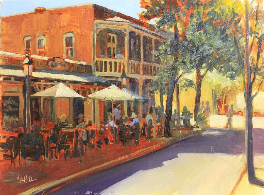 The Perry Building, Roswell Ed Cahill Plein Air