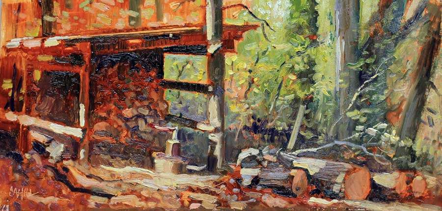 Woodshed Ed Cahill Plein Air