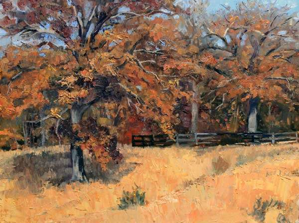 Mary Oaks Ed Cahill Plein Air