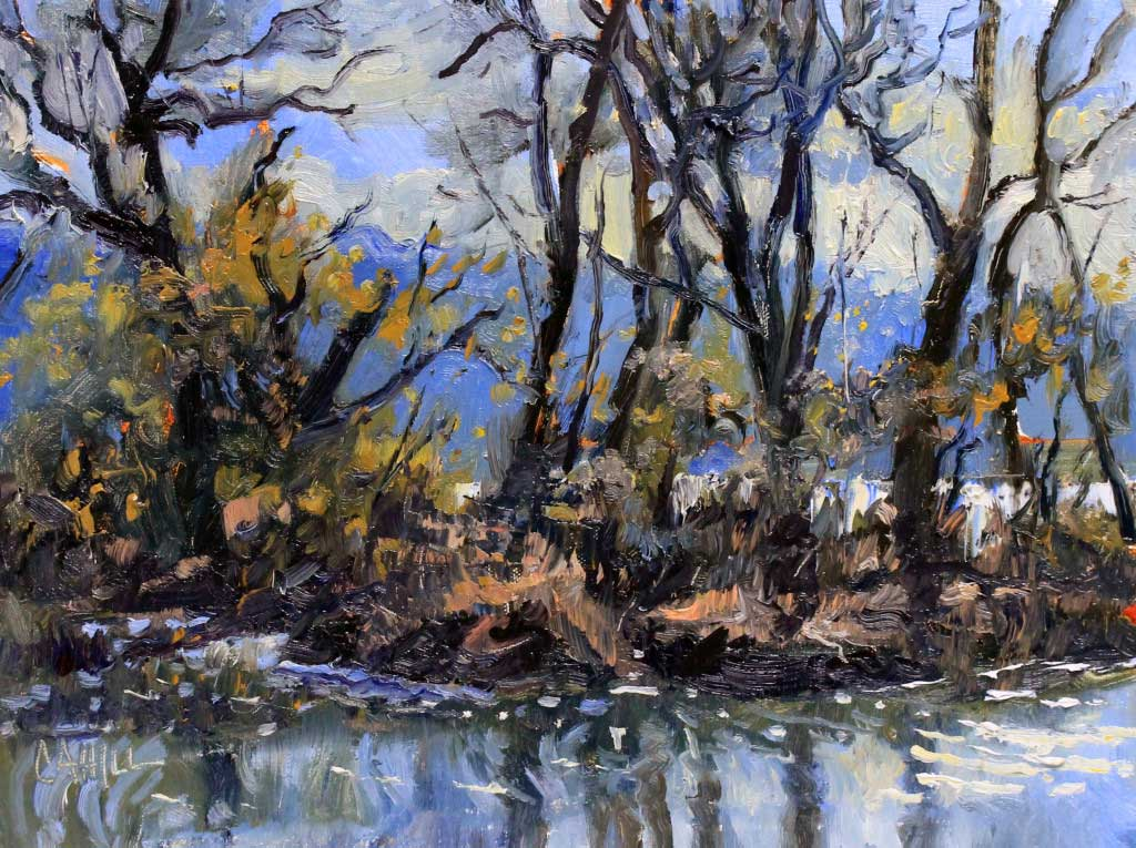 Reflections on the Flats Ed Cahill Plein Air