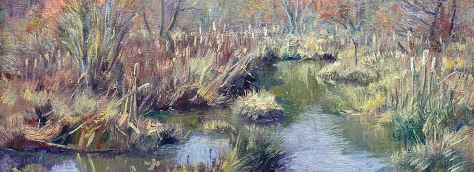 Chattahoochee Cattails 24×12