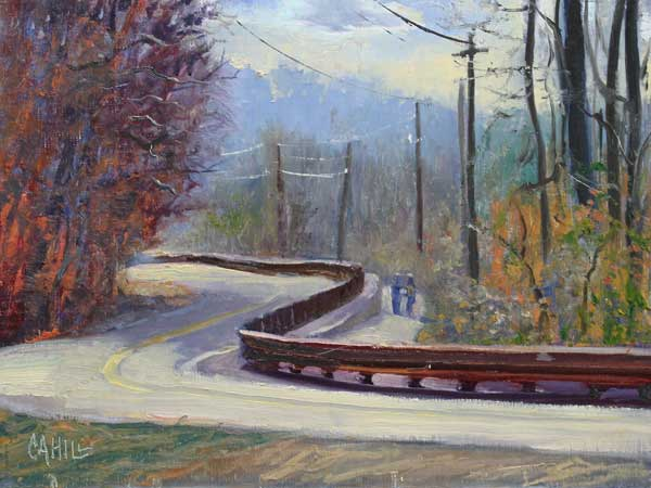 Turn on Azalea Drive-ed-cahill-plein-air