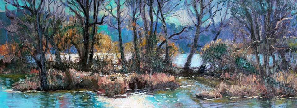 Winter Morning on the River 36X18