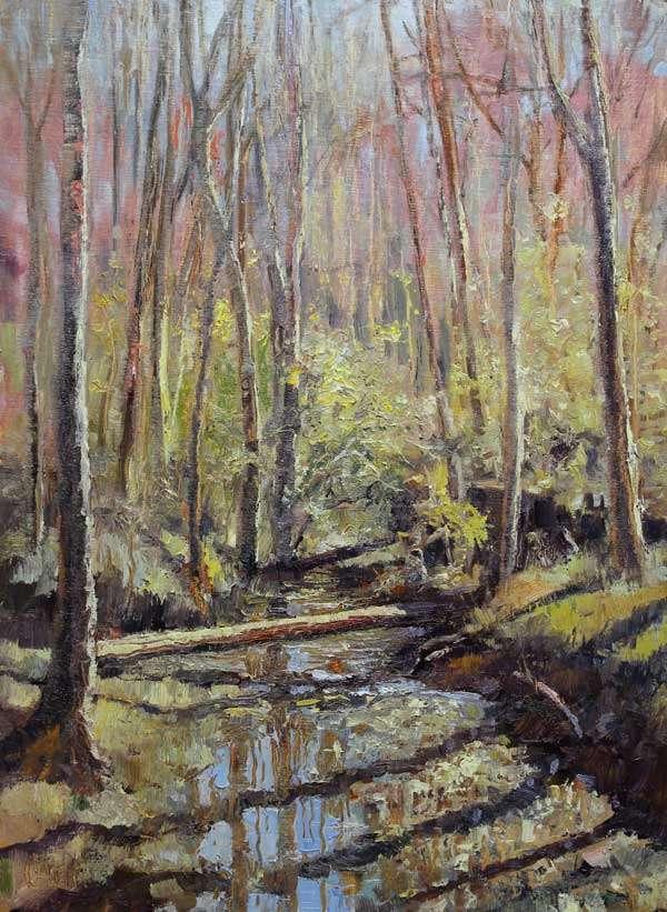 Hint of Spring, Ed Cahill, Plein Air Painting