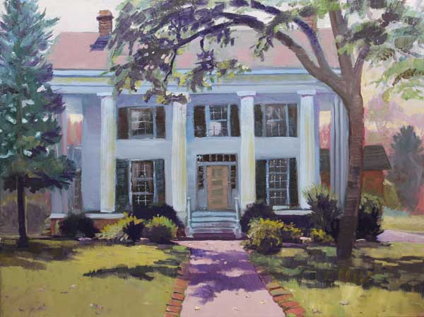 Barrington Hall, Ed Cahill, Plein Air Painting