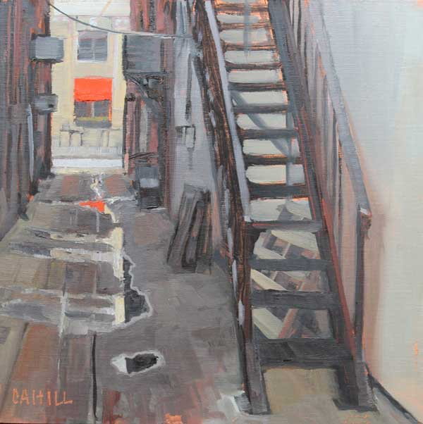 Reflections in the Alley, Ed Cahill, Marietta Painting