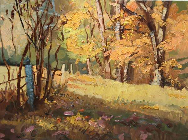 Colors of Fall, Ed Cahill, Georgia Landscape Painting
