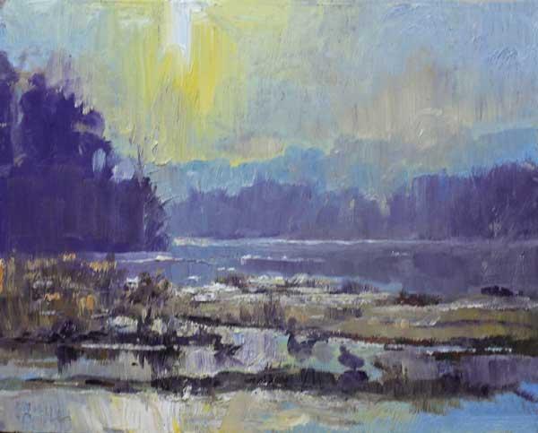 Chattahoochee Sunrise, Ed Cahill, Georgia Landscape Painting