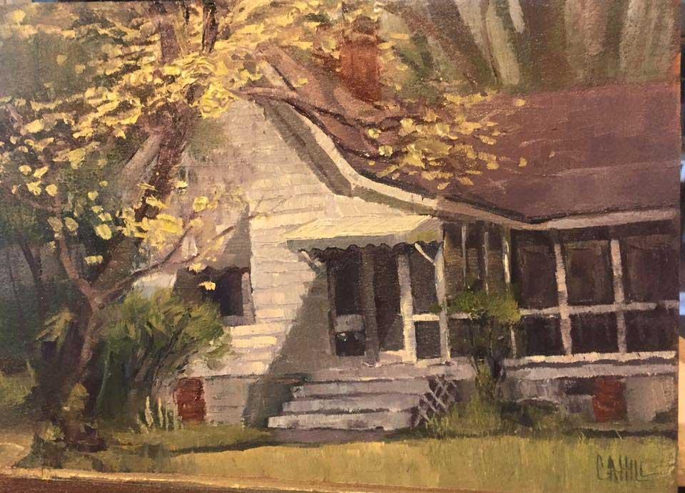 Dogwoods on Canton St, Ed Cahill Fine Art