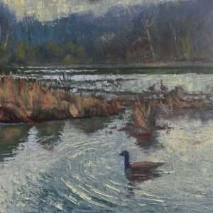 Goose View, 12x12, Ed Cahill Plein Air Painting