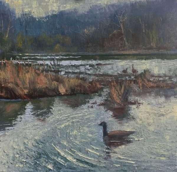 Goose View, 12x12, Ed Cahill Plein Air Painting