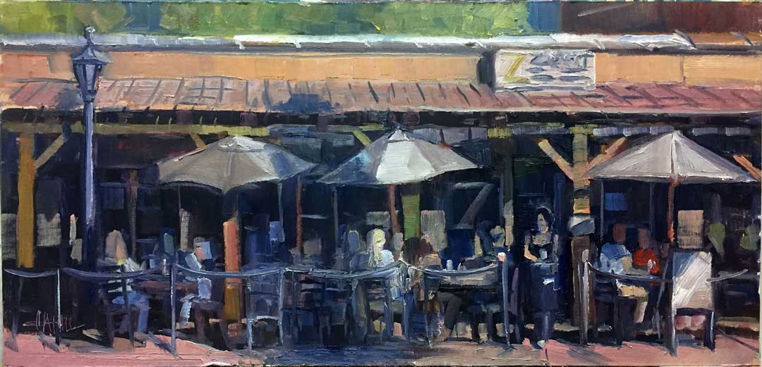 Serving Time, Ed Cahill Plein Air Painting