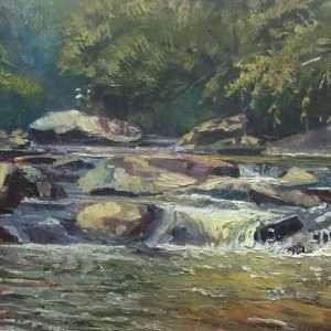 Sope Creek, 12x24, Ed Cahill Plein Air Painting
