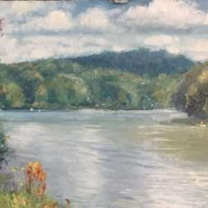 Summer on the River, Ed Cahill Plein Air Painting