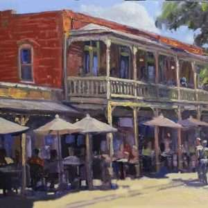 Summer on the Street, Ed Cahill Painting