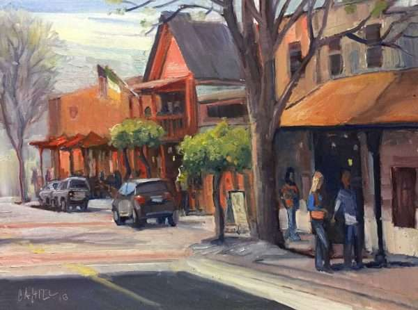 Sunday Morning Coffee, 12x16, Ed Cahill Plein Air Painting