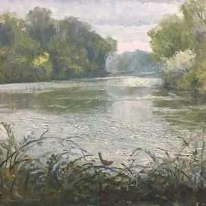 Wren's View, 12x16, Ed Cahill Plein Air Painting