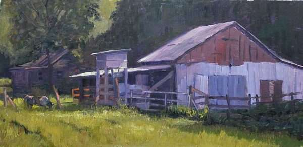 Wrights Old Dairy Barn, Ed Cahill painting