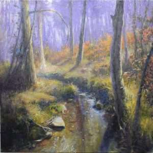 Down in the Holler, Ed Cahill Plein Air Painting
