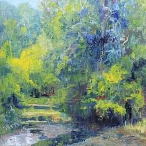 Chattahoochee Summer, Ed Cahill Plein Air Painting