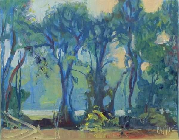 Nouveau River, Ed Cahill Plein Air Painting