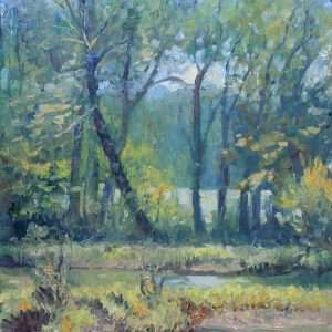 River Song, Ed Cahill Plein Air Painting