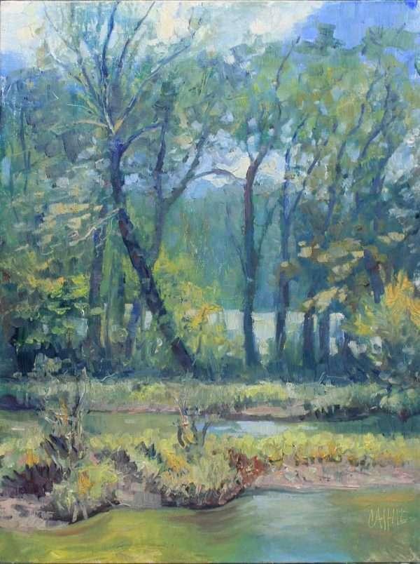 River Song, Ed Cahill Plein Air Painting