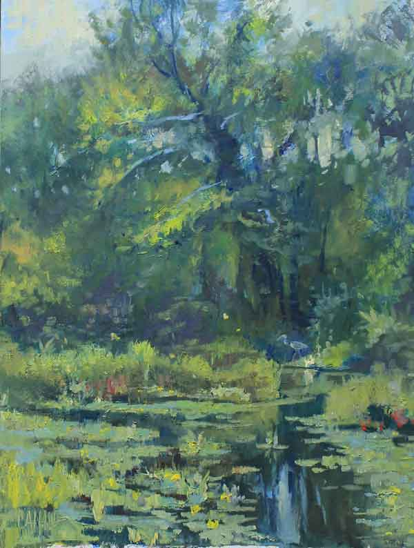 August Shade, 12x16, Ed Cahill painting