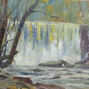 Big Creek Falls,12x16, Ed Cahill painting