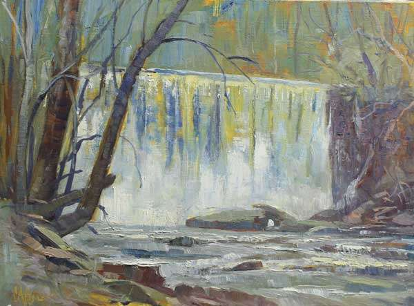 Big Creek Falls,12x16, Ed Cahill painting