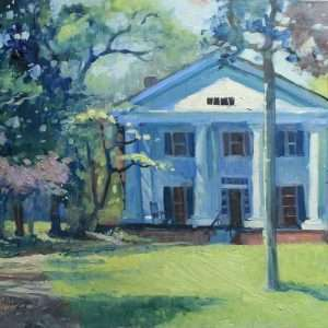Bulloch Hall Spring, 18x24, Ed Cahill painting