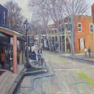 Canton Street Fall, 16x20, Ed Cahill painting