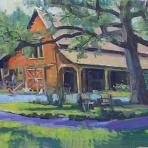 Fair Oaks Barn, 12x16, Ed Cahill painting